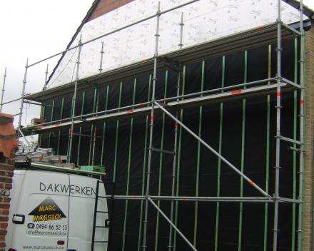 Recticel eurowall isolatie beschermd met Delta Fassade S plus doek.