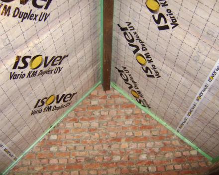Isover isoconfort35 met dampscherm Isover vario KM Duplex.